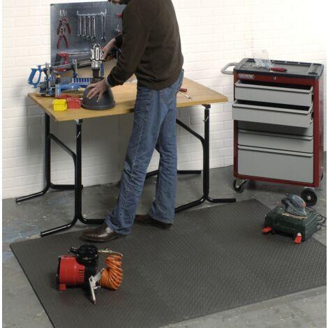 Lot de 6 tapis mousse idéals pour atelier ou garage. Mottez B516F
