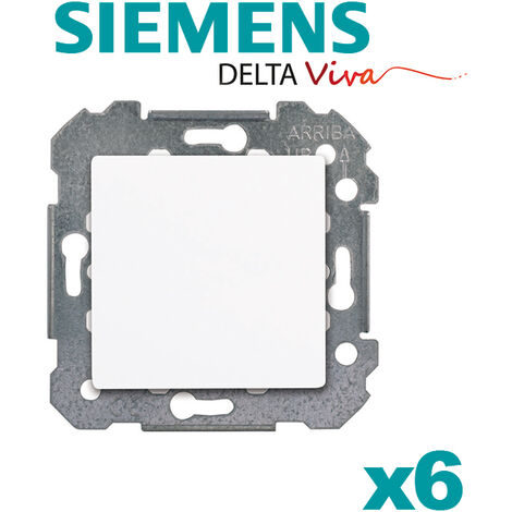 Lot de 6 Va & Vient BLANC Siemens DELTA VIVA - SIEMENS