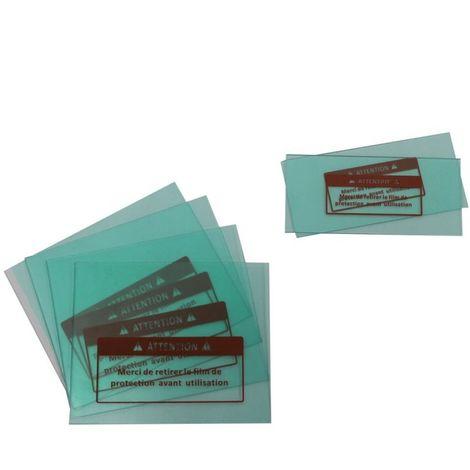 Lot de 6 vitres de protection pour masque de soudure - Linxor