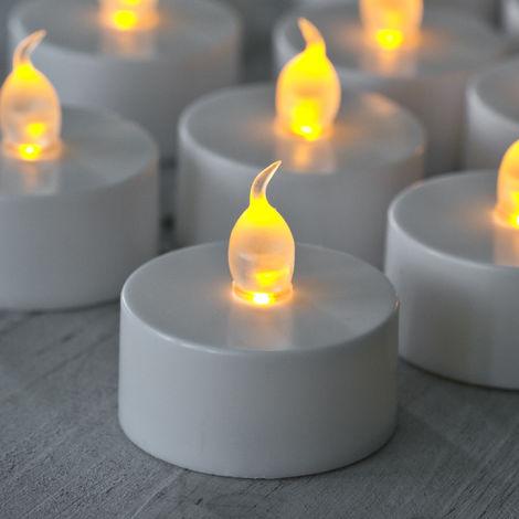 Caoutchouc De Flamme Lot 60 Avec Vacillante Lights4fun Bougies w80mNn