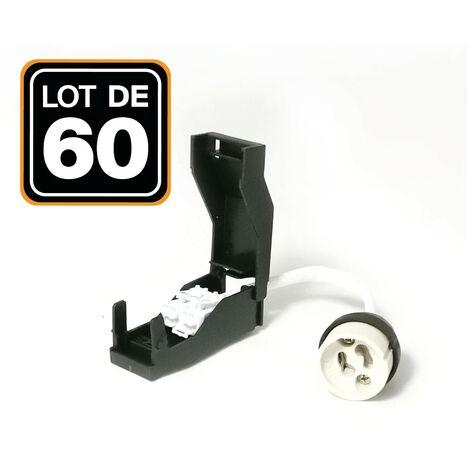 Lot de 60 Douilles GU10 Céramique Automatique 230V classe 2