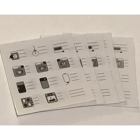 Lot de 60 étiquettes signalétiques autocollantes de repérage des circuits sur disjoncteur ou tableau electrique AE12100
