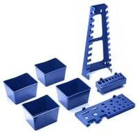 Lot de 7 accessoires et boites en plastique pour panneaux porte outils