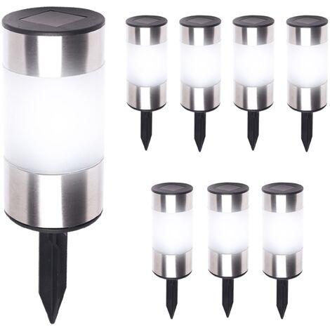 Lot de 4 lampe solaire capteur de Gouttière Lumière Extérieur Mur Toit Lampe de jardin clôture Noir