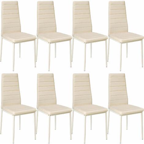 Lot de 8 chaises avec surpiqûre - lot de 8 chaises salle a manger, chaises de cuisine, chaises de salon