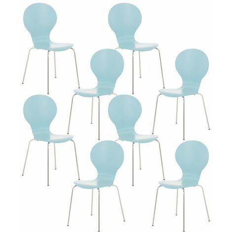Lot de 8 chaises de visiteur Diego