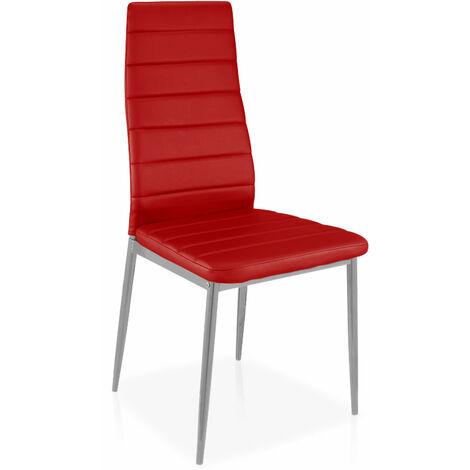 Lot de 8 chaises Stratus Rouge