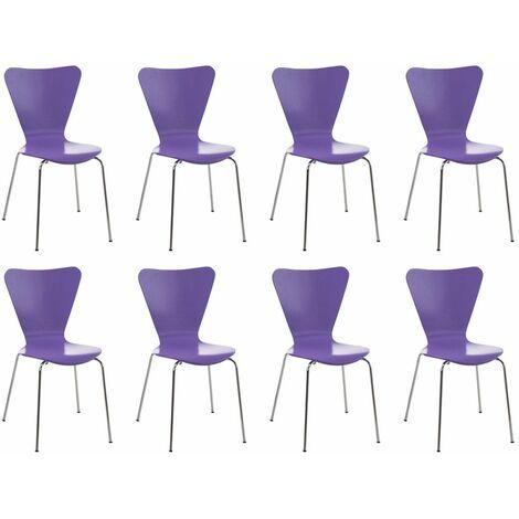 Lot de 8 chaises visiteur empilables Calisto