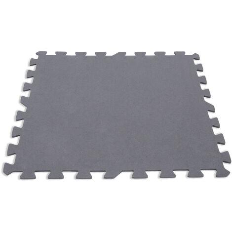 """main image of """"Lot de 8 dalles de protection de sol en mousse 50 x 50 cm grises épaisseur 5 mm - Intex"""""""