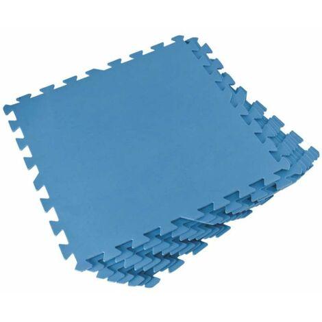 Lot de 8 dalles de sol bleu 50x50 cm Bestway