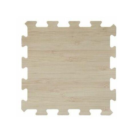 Lot de 8 dalles de sol modulables - Piscine - 50 x 50 cm - Beige - Livraison gratuite