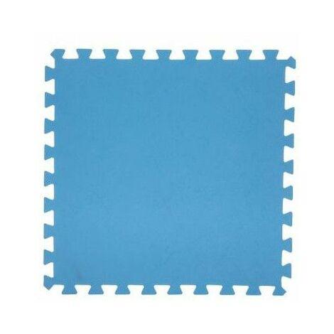Lot de 8 dalles de sol modulables - Piscine - 50 x 50 cm - Bleu - Livraison gratuite