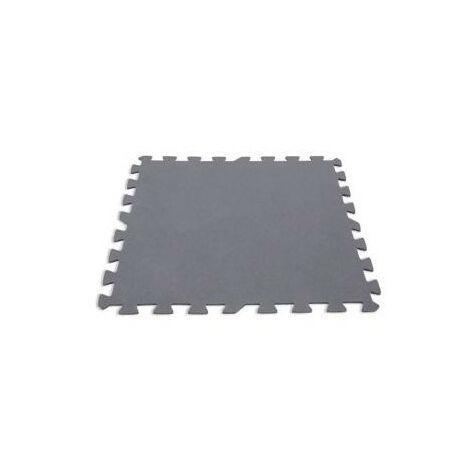 Lot de 8 dalles de sol modulables - Piscine - 50 x 50 cm - Gris - Livraison gratuite