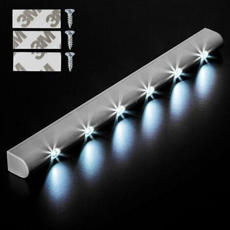 Lot de 8 Lampes led réglette lumineuse luminaire avec capteur de mouvement 6 leds