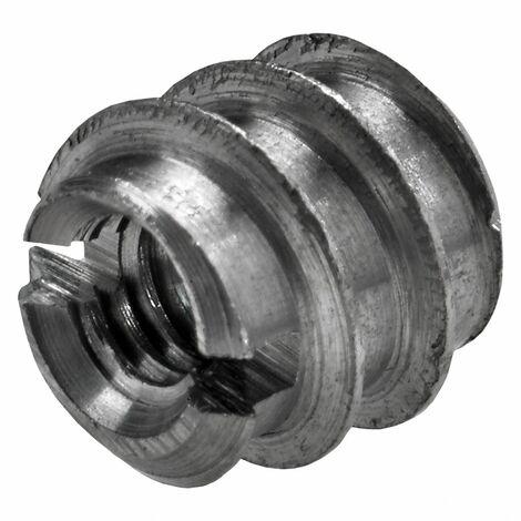 Lot de 8 manchons à visser acier brut HETTICH, l.8 mm