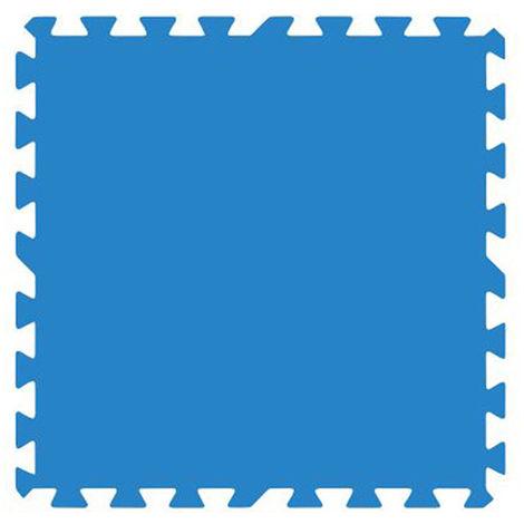 Lot de 9 dalles de protection de sol en mousse 50 x 50 cm bleues épaisseur 4,5 mm pour piscine - Gré