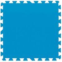 Lot de 9 dalles de sol bleu 50 x 50 cm
