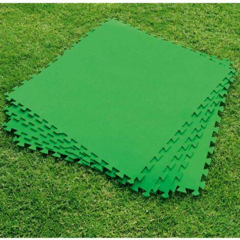 Lot de 9 dalles de sol vertes 78x78cm 5,48m2 Bestway pour piscine