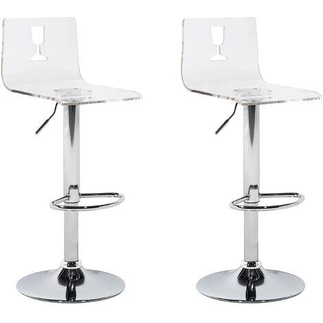 Lot de deux chaises de bar modernes et élégantes