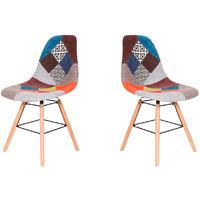 Lot de deux chaises scandinaves BREZILIA