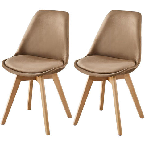Lot de Deux chaises scandinaves FREAM TAUPE