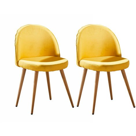 Lot de deux chaises scandinaves GREK Jaune