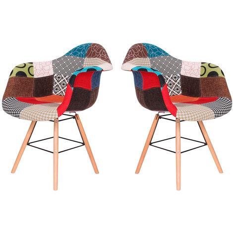 Lot de deux chaises scandinaves KOOL