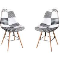 Lot de deux chaises scandinaves PABLITO