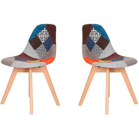 Lot de deux chaises scandinaves SLAKE