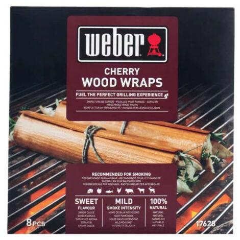 Lot de feuilles à fumage Weber - pour barbecues - en bois de cerisier - 8pcs