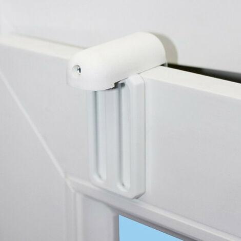 Lot de Fixations de store à serrer en métal renforcés pour fenêtre avec joint - U5-U6-U19-U20 Blanc