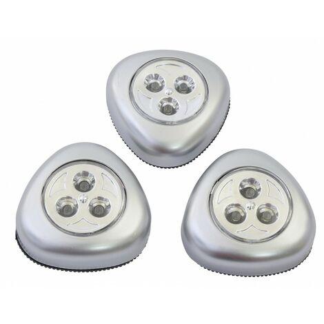 Lot de lampes Push Light leds à piles (Piles Fournies)
