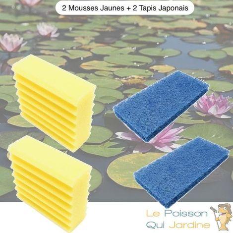 Lot De Mousses De Remplacement, 2 Mousse Jaunes + 2 Tapis Japonais