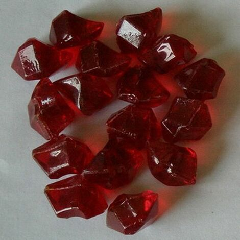 lot de pierres décoratives rouge pour cheminées électriques - 018 - cheminarte
