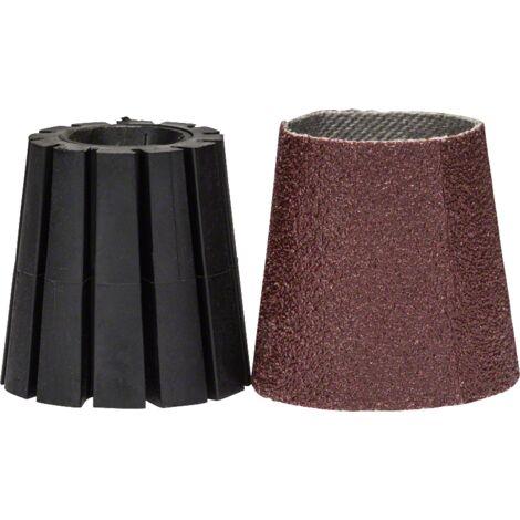 Lot de porte-outil et manchon abrasif Bosch - Accessoire pour PRR 250 ES (conique)