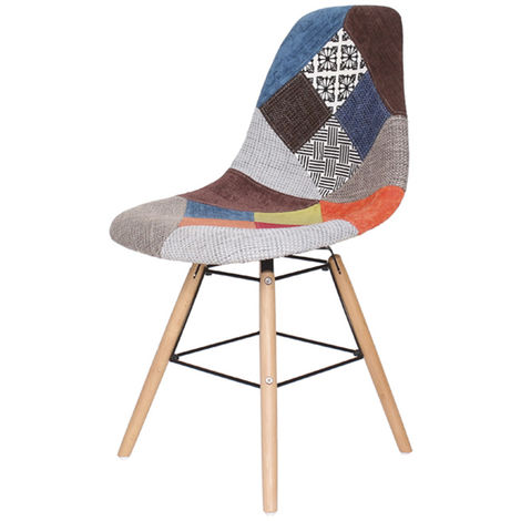 Lot de quatre chaises scandinaves BREZILIA