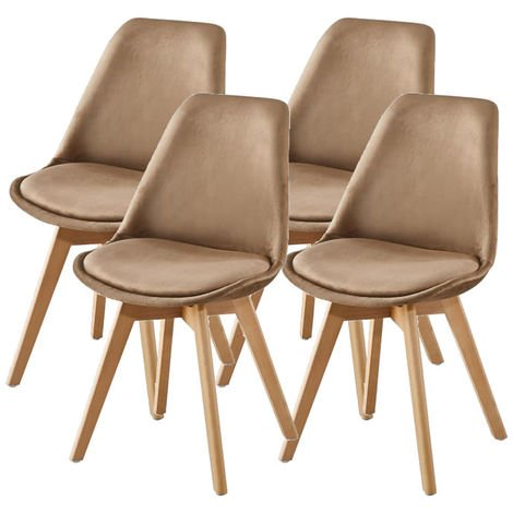 Lot de Quatre chaises scandinaves FREAM TAUPE