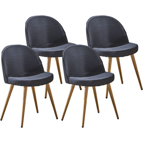 Lot de quatre chaises scandinaves GREK Noir
