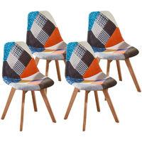 Lot de Quatre chaises scandinaves SLAKE