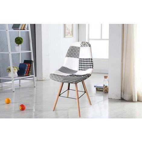 Lot de quatres chaises scandinaves PABLITO