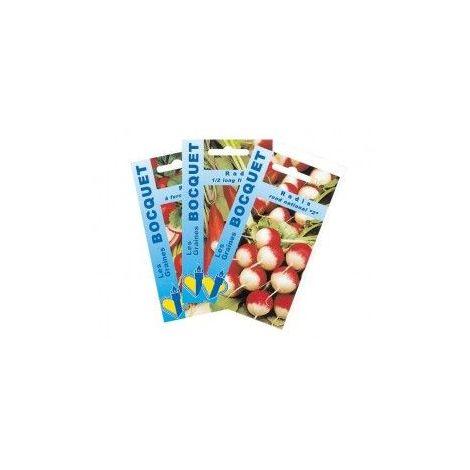 Lot de Radis aux Formes Variées (3 sachets de graines à semer) - 30g