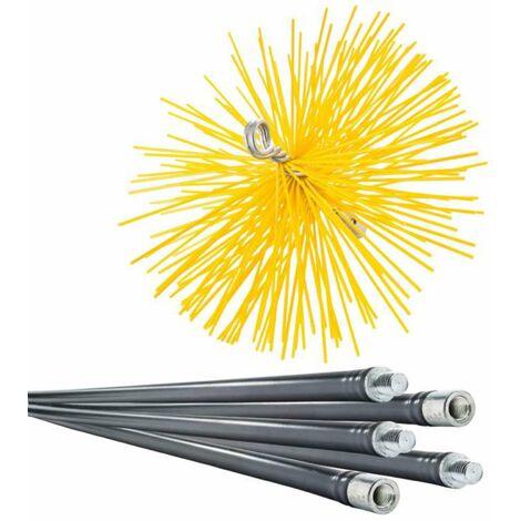 Lot de ramoneur 7m + 1 hérisson PVC 250mm