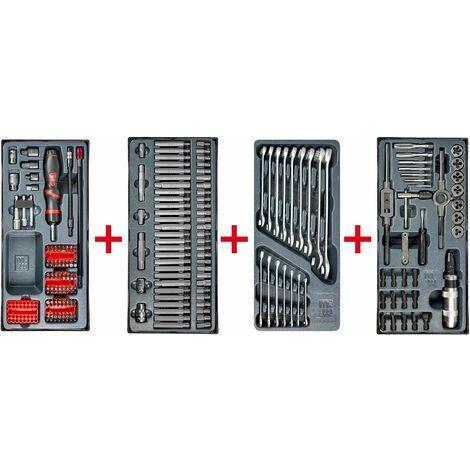 Lot d'embouts, de clés mixtes et set de tarauds MW-Tools MWPSBI