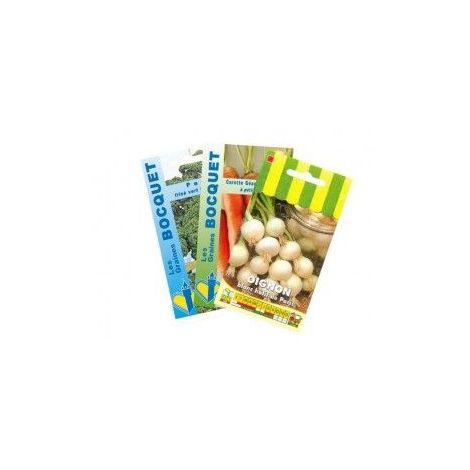 Lot d'Oignons et assortiment de légumes (3 sachets de graines à semer) - 9g