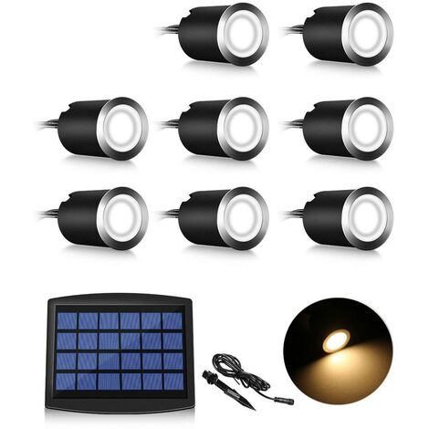 Lot of 8 Mini Spot LED Floor LED Floor, 3W Recessed Floor Floor Floor Floor, Outdoor Floor, Antirust, Loadable up to 800 kg, 12V-24V DC, Hot Color Stainless Steel [Energy Class A +++]