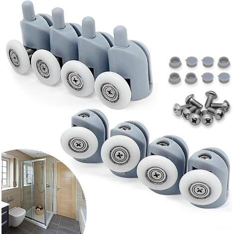 Lot of 8 Sliding Wheels Door, 23mm Galet Roll Roulette Wheel for Bathroom Cab