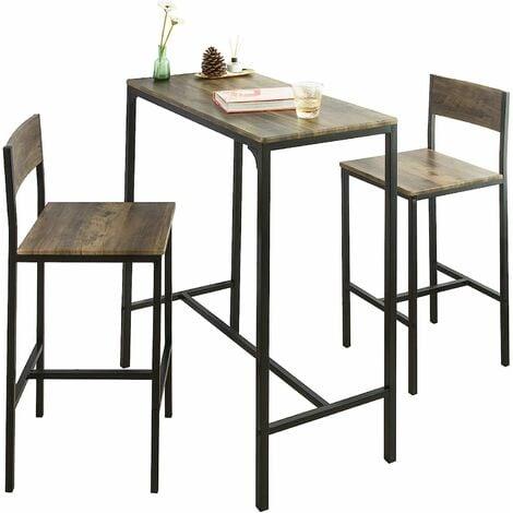 """main image of """"Ensemble table de bar + 2 chaises, Set de 1 Table + 2 Chaises, Table haute cuisine SoBuy® OGT03-N"""""""