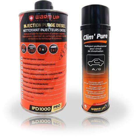 Lot Warm Up : Nettoyant injecteur Diesel 1L et Clim' Pure 250 ml