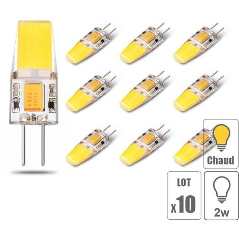 Lot x10 ampoule led G4 COB 3W blanc chaud