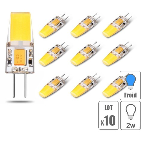 Lot x10 ampoule led G4 COB 3W blanc froid